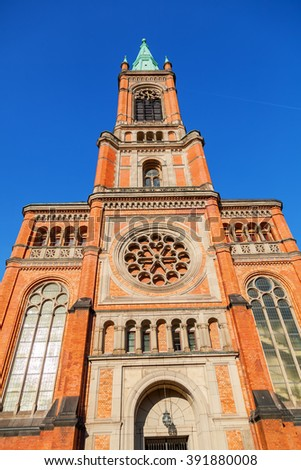 St Johns Church in Dusseldorf, Germany - stock photo