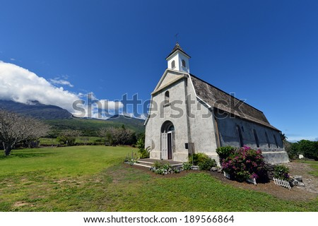 St.Joseph Church,Kaupo,Maui,Hi,Hawaii,usa-3 - stock photo