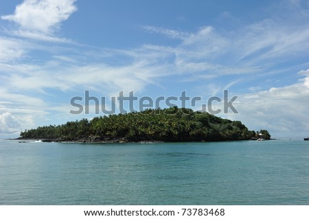 St Joseph island, one of the three salvation island off the coast of French Guiana. During the period when the islands were used as a penal colony, the island was reserved for solitary confinement.