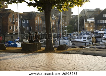St Katharine Docks. London. Uk. Summer time