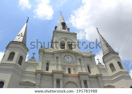 St. Louis Cathedral, New Orleans - stock photo