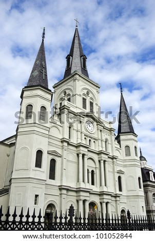 St. Louis Cathedral, New Orleans French Quarter, Louisiana - stock photo