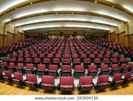 ST. LOUIS, MISSOURI - MAY 28: Jerzewiak Family Auditorium on the campus of Washington University on May 28, 2015 in St. Louis, Missouri