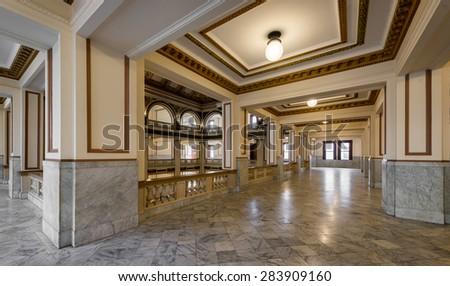 ST. LOUIS, MISSOURI - MAY 28: Old City Hall on Market Street on May 28, 2015 in St. Louis, Missouri  - stock photo