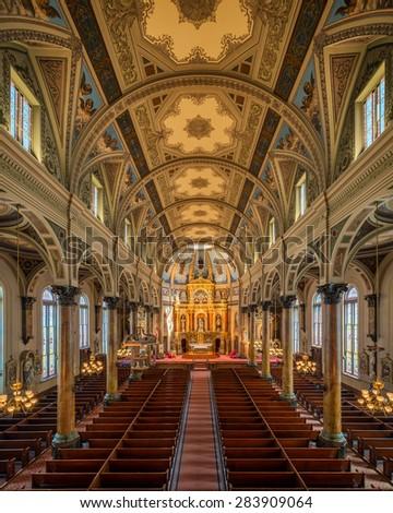 ST. LOUIS, MISSOURI - MAY 28: Shrine of St. Joseph on N 11th Street on May 28, 2015 in St. Louis, Missouri - stock photo