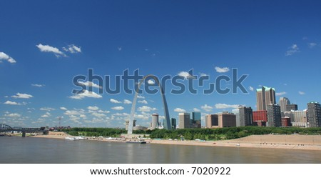 St Louis skyline panoramic - stock photo