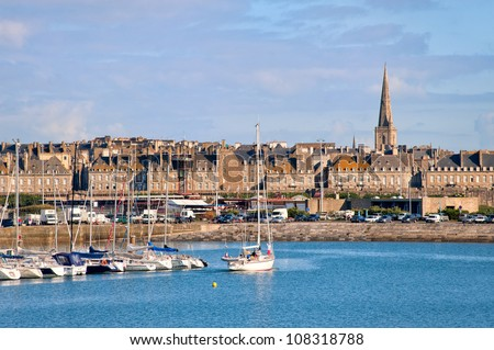 St Malo, Brittany, France - stock photo