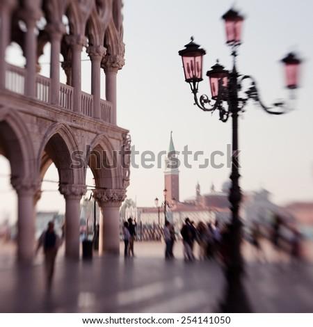 St. Mark's column on Piazza San Marco - stock photo