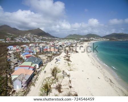 StMartin Orient Bay September 2017 Hurricane Irma Category 5 Storm Create Havoc On