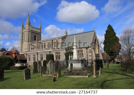 St Mary & All Saints Church at Beaconsfield in Buckinghamshire, England - stock photo