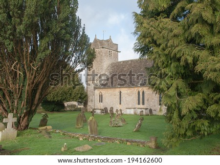 St Mary Church, Barnsley, Cotswolds, Gloucestershire, England