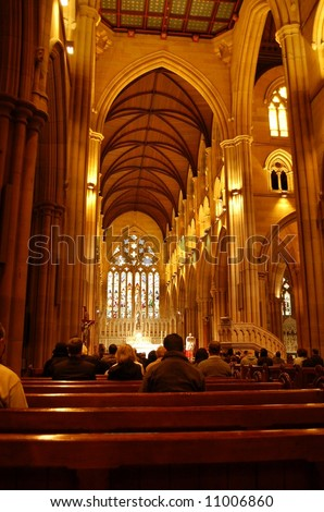 St. Mary's Cathedral, Sydney - stock photo