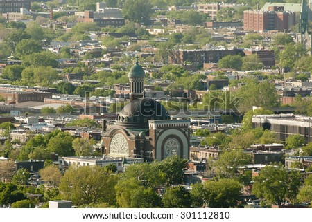 St Michael & St Anthony Church - Montreal - Canada - stock photo