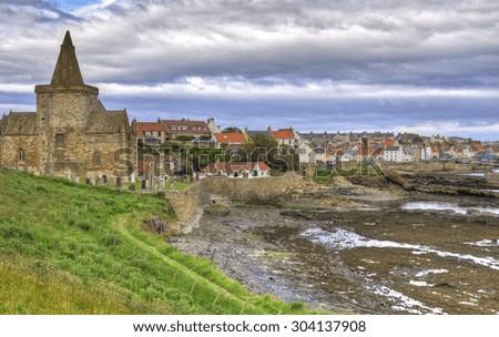 St Monans, Fife, Scotland - stock photo