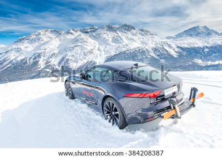 ST. MORITZ. SWITZERLAND 18 February 2016: 
