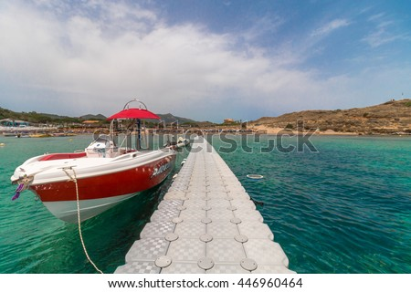 st. nicholas beach, zakynthos, greece - stock photo