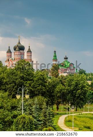 St. Panteleimon Cathedral in Feofaniya, Kiev - stock photo