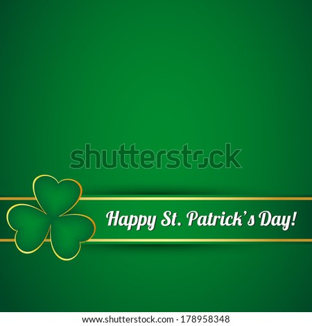 St. Patrick's day card. Vector available. - stock photo