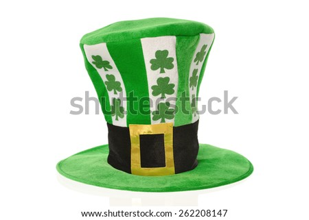 St. Patrick's Day celebration hat on white