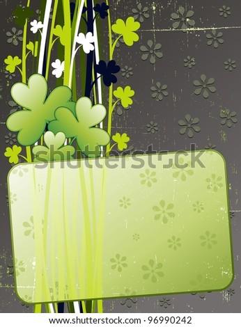 St Patrick's Day Grunge Card - stock photo
