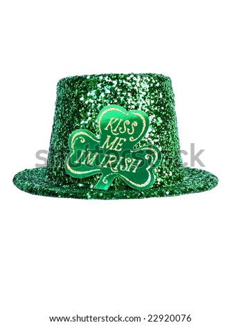 St. Patrick's day hat isolated