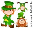 St. Patrick's Day leprechaun Characters - stock photo