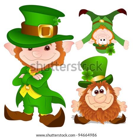 St. Patrick's Day leprechaun Characters - stock photo