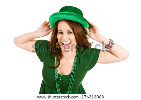 St. Patrick's Day: Woman Excited to Celebrate