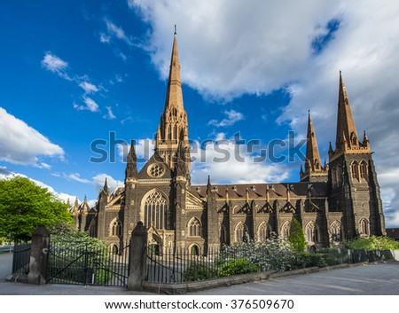 St. Patrick's Roman Catholic Cathedral in Melbourne, Victoria, Australia - stock photo