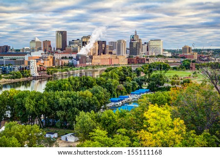 St Paul river city view - stock photo