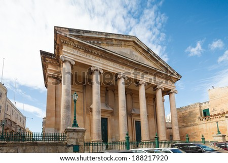 St.Paul's Anglican Cathedral, Valletta, Malta - stock photo