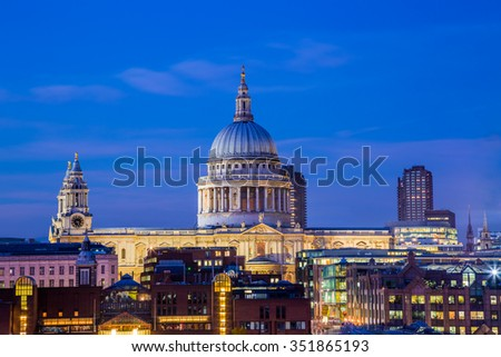 St. Paul's Cathedral at blue hour - London, UK