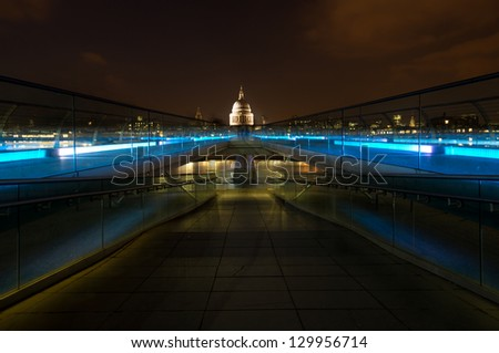St Paul's Cathedral at dusk - stock photo