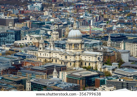 St Paul's cathedral in London, England, UK - stock photo