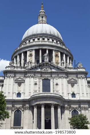 St. Paul�´s Cathedral in London, Great Britain