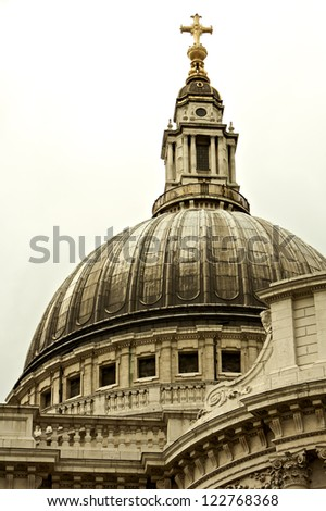 St Paul's Cathedral in London, United Kingdom - stock photo