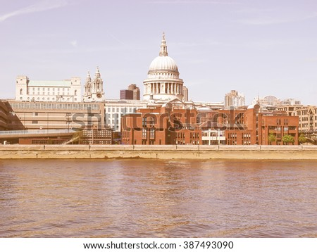 St Paul's Cathedral in London, United Kingdom (UK) vintage