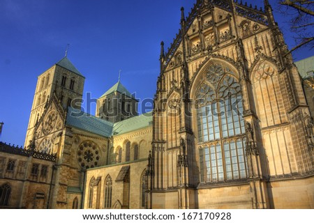 St. Paul's cathedral in Munster - stock photo