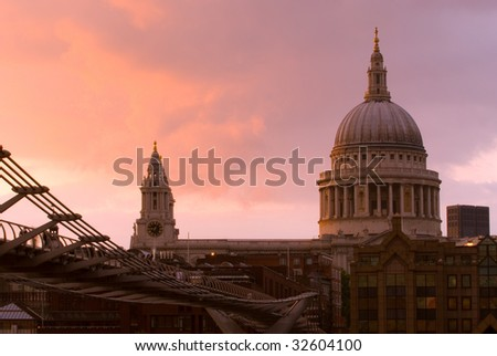 St. Paul's Cathedral, London - stock photo