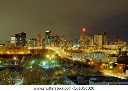 St Paul Skyline  - stock photo