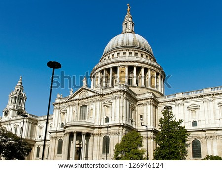 St Pauls Cathedral in London. - stock photo