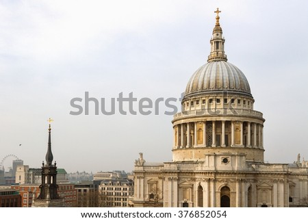 St Pauls Cathedral in London, UK.