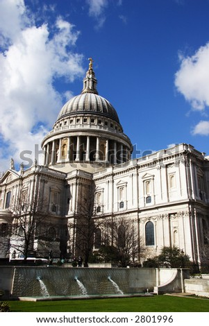 St Pauls with garden in foreground