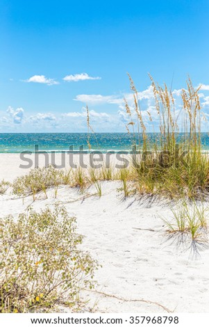 St. Pete beach in Florida, USA - stock photo