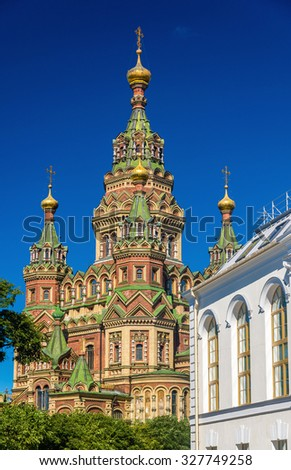 St. Peter and Paul Cathedral in Saint Petersburg - Russia - stock photo
