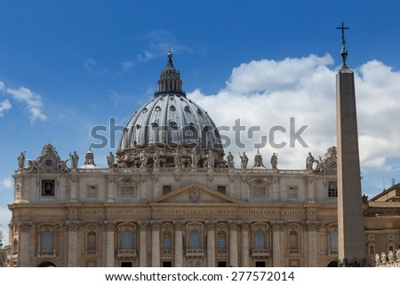 st peter basilica at vatican city - stock photo