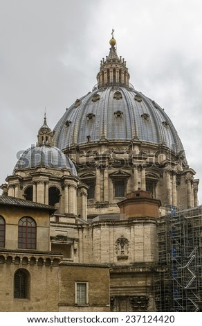 St. Peter Basilica is a church in the Renaissance style located in the Vatican City