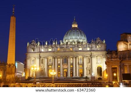 St. Peter Basilica, Vatican - stock photo