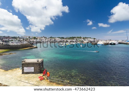 St Peter Port Harbour, Guernsey, Channel Islands