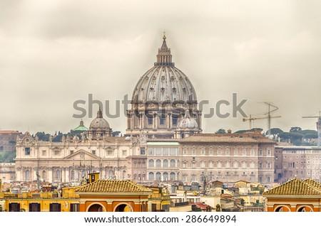 St Peter's Basilica, Rome, Italy - stock photo